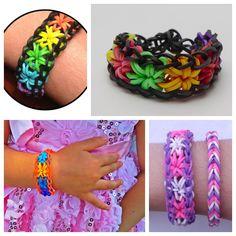 rainbow loom starburst bracelet F2