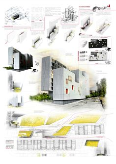Found on plataformaarquitectura clarchitecture manual presentation board Architecture Design, Architecture Graphics, Architecture Board, Architecture Student, Architecture Drawings, Architecture Portfolio, Concept Architecture, Design Presentation, Architecture Presentation Board