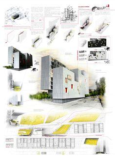 "COMPETITION: Second price (286 proposals). ""Habitat Futura, Nuestra señora de los ángeles parcela 11.2""   GEA Architects   Archinect"