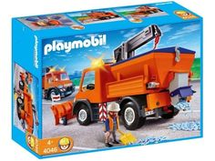 Amazon.com: Playmobil Road Maintenance Truck Construction Set: Toys & Games