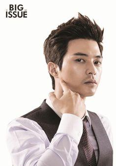 Kim Ji Hoon - The Big Issue Magazine Hairstyle for Men Korean Star, Korean Men, Asian Men, Asian Actors, Korean Actors, Asian Hair, Korean Celebrities, Celebs, Flower Boys