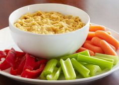 This Simple Cooking with Heart, Mediterranean Hummus recipe is a great, heart healthy snack made with beans and olive oil -- two thumbs up ingredients according to the American Heart Association. Recipes Appetizers And Snacks, Healthy Appetizers, Yummy Snacks, Mediterranean Hummus Recipe, Mediterranean Diet, Healthy Cooking, Healthy Eating, Healthy Exercise, Clean Eating
