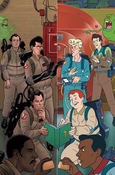 Ghostbusters Get Real IDW) comic books Ghostbusters Party, The Real Ghostbusters, Original Ghostbusters, Gi Joe, Paranormal, Comic Art, Comic Books, Ghost Busters, Geek Art