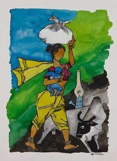 M F Hussain I Saffronart Winter Auction I #Indian #Art #Fine Art #saffronart