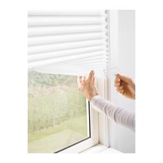 SCHOTTIS Pleated shade IKEA Easy to attach to your window frame. No drilling needed. Can be easily cut to the desired size.