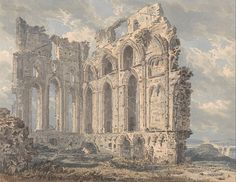 Tynemouth Priory, Northumberland, 1793  (Yale Center for British Art, New Haven, USA)