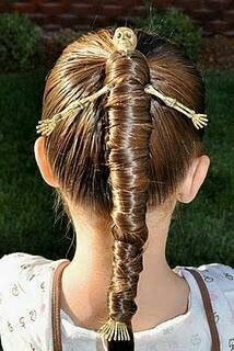 Skeletons go anywhere, even in your daughter's hair!