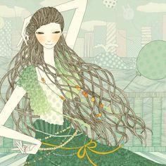 Yoko Furusho, Oxygen Girl for Maybelline, New York, Illustration