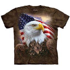 MAJESTIC FLIGHT The Mountain American Bald Eagle Bird Flying T Shirt Tee S-5XL
