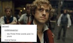 Theatre Geek, Musical Theatre, French Man, Aaron Tveit, Disney And More, Text Posts, Music Stuff, Hunger Games, Musicals