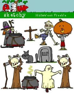 Halloween clipart! FREE!