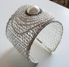 how to wire crochet a bracelet - Google Search