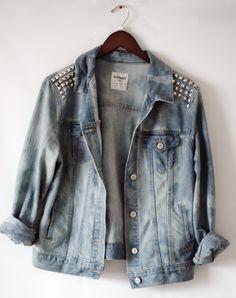 98b675c65c47 studded jean jacket Jean Jackets