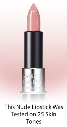 Make Up For Ever's Rosewood nude lipstick was tested on 25 skin tones and was de. Make Up For Ever Nude Lipstick, Lipstick Colors, Lip Colors, Makeup Forever Lipstick, Mac Lipstick Shades, Summer Lipstick, Makeup Lipstick, Liquid Lipstick, Makeup Tips