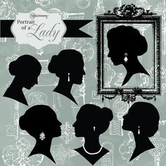 Portrait of a Lady, Digital Clipart by Verdigris Studios on @creativemarket