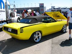 1970 Plymouth Barracuda   This 1970 Plymouth Barracuda had a Dodge Viper V10 engine under the hood and also the Viper's interior was custom instaled into the car.