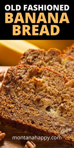 Old Fashioned Bread Recipe * Easy to Make - are you looking for the classic recipe that won't disappoint your taste buds? You've come to the right place. This old fashioned recipe is so darn good - it gets a five star rating all the time. Nut Bread Recipe, Easy Bread Recipes, Banana Bread Recipes, Quick Bread, Crockpot Recipes, Simple Recipes, Delicious Recipes, Sweet Recipes, Old Fashioned Bread Recipe