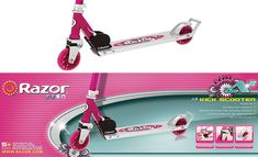 Razor A2 in kick scooter daisy pink of 2020 for girls from the folding and lightweight scooters in sale - Best Kids Ride on Toys Kids Ride On Toys, Kids Scooter, 12 Year Old, Scooters, Cool Kids, Daisy, Kicks, Bellis Perennis, Vespas