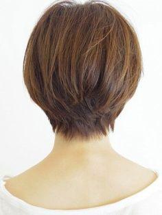 Cute short hair - back view