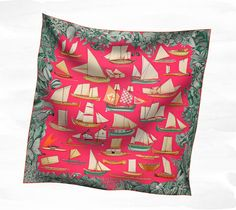 Scarves Hermès Pink - Silk Twill - Scarves 90 - Women | Hermès, Official Website