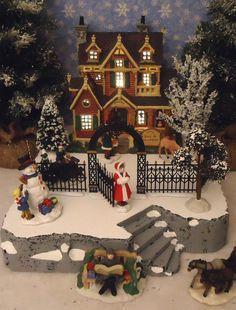 Christmas Snow Village Display ADD-ON Platform Base Dept 56 Lemax B | eBay