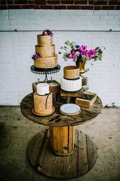 Urban Glam Industrial Wedding | Burnett's Boards - Wedding InspirationAmazing Glitter Wedding Cakes!