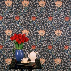 Garden Tulip Wallpaper from the Morris & Co Archive Wallpapers Collection, now available at British Wallpapers: http://www.britishwallpapers.co.uk/william-morris-archive-wallpapers/