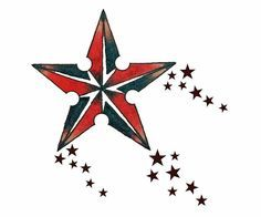 nautical star red white blue