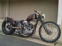 Bobber Inspiration - Bobbers and Custom Motorcycles Rat Bikes, Bobber Bikes, Bobber Motorcycle, Cool Bikes, Motorcycle Garage, Honda Bobber, Harley Bikes, Harley Panhead, Cars Motorcycles