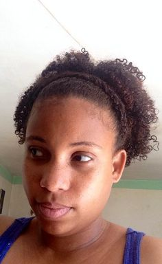 Ayiti beauty: wash n go updo couronne de tresses