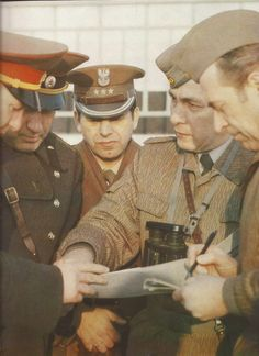 Soviet, polish and east german officers.