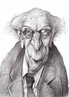 Caricatures by Jan Op De Beeck