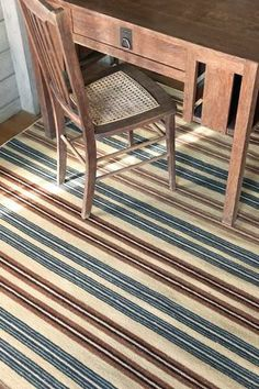 Feed Sack Stripe Wool Woven How now, brown pow? Go for the bold in an eye-catching neutral stripe on durable woven wool. Bliss Home And Design, Dash And Albert, Rug Company, Feed Sacks, Log Homes, Woven Rug, Wool, Rugs, Brown