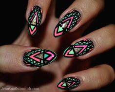 jennsnails: Tough to get a good pic of these, but I love this... (via Bloglovin.com )