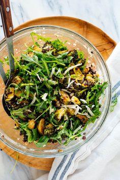 Lemony Roasted Broccoli, Arugula & Lentil Salad