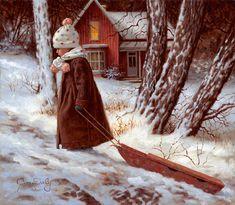 Jim Daly ~ 'Fun In The Snow'