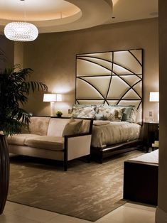 ♂ Modern interior design luxury bedroom