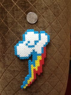Rainbow Dash Perler Bead Cutie Mark by RandomActsofGeekness, $4.50