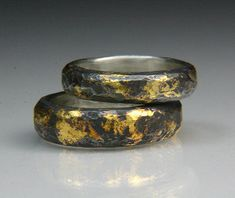 Silver Band with 23 Karat Gold Keum Boo   Flickr - Photo Sharing!