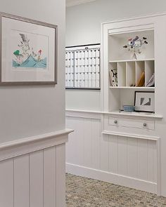 Built in for mudroom--cubby for mail, papers, car keys, etc.