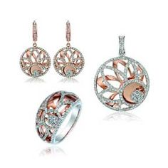 18K Rose Gold Diamond Jewelry Set (Hong Kong)
