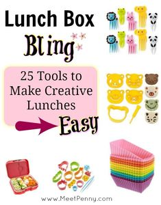I had no idea there were so many tools for creating cute bentos! I just thought Pinterest people were really creative!
