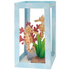 printable sea horse aquarium -- might be a good rainy day craft for the kids :) #DIYBzz #BiteSizedBzz