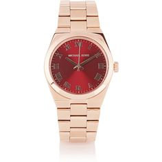 Michael Kors Channing rose gold-tone watch ($250) ❤ liked on Polyvore