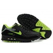 half off dc306 30a27 Nike Air Max 90 Männer Trainern schwarz   grün Air Max 90, Baskets Nike,