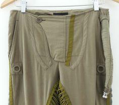 Helmut Lang 2003 khaki cotton aviator pants army air force | eBay
