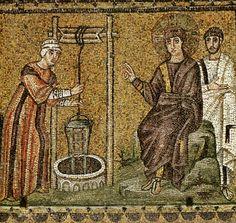 Mosaici di S. Apollinare Nuovo - Incontro fra Gesù e la Samaritana