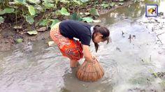 Net Fishing In Kampong Cham Province   Khmer Cast Net Fishing   Cambodia...