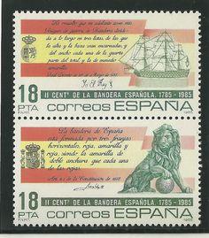 Sello conmemorativo del II Centenario de la Bandera Nacional (1785 - 1985).