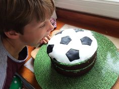 An Action Packed Sports Party - with Bubble Soccer Bubble Soccer, Soccer Cake, Sports Party, Desserts, Tailgate Desserts, Deserts, Postres, Dessert, Plated Desserts